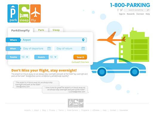 ParkSleepFly Website Home
