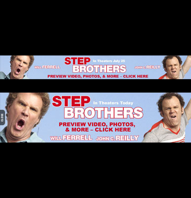 STEP BROTHERS BANNER ADS