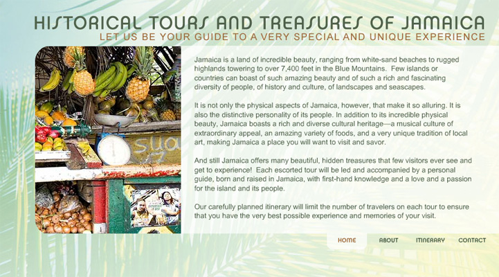 HISTORICAL TOURS OF JAMAICA WEBSITE