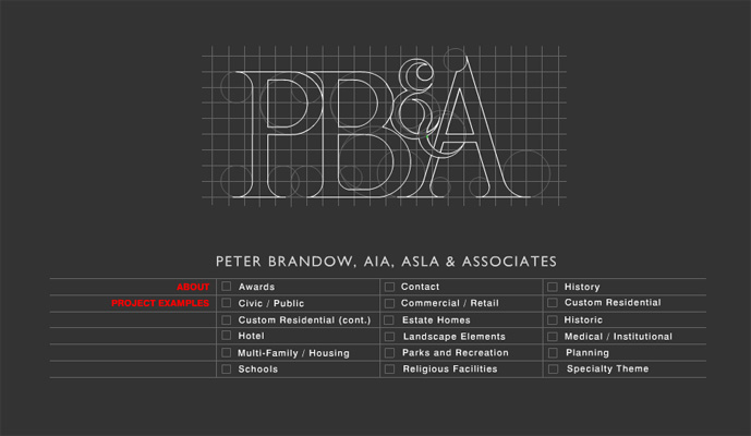 PETER BRANDOW LANDSCAPE ARCHITECTURE WEBSITE