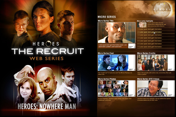 HEROES WEBISODES KEY ART